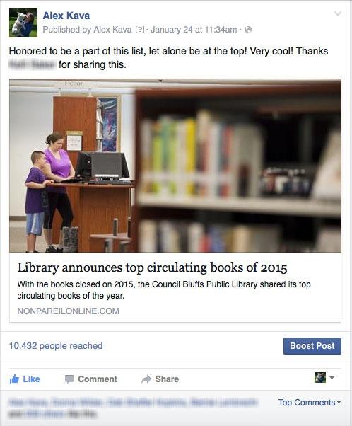 Library Top Circulating Books 2015   Alex Kava   Ryder Creed Series