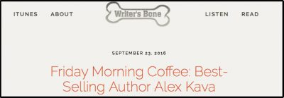 Writer's Bone Pod Cast with Daniel Ford | Alex Kava