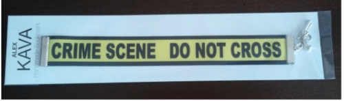 Crime Scene Bookmark | Limited Edition | Alex Kava