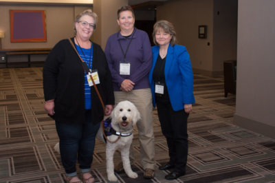 TRIPP Service Dog in training attends his first Alex Kava luncheon.